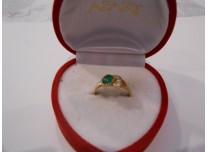 złoty pierścionek 585   14k r13
