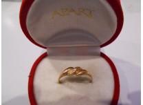 złoty pierścionek 585   14k r21