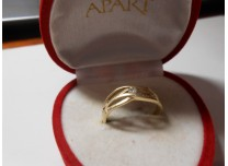 złoty pierścionek 585   14k r20